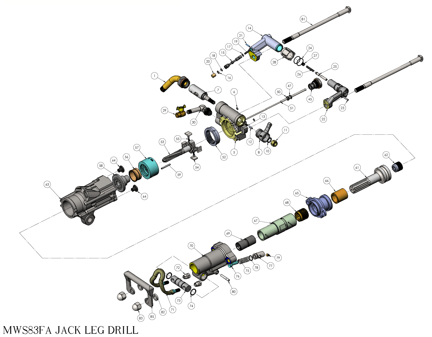 MWS83FA Exploded View