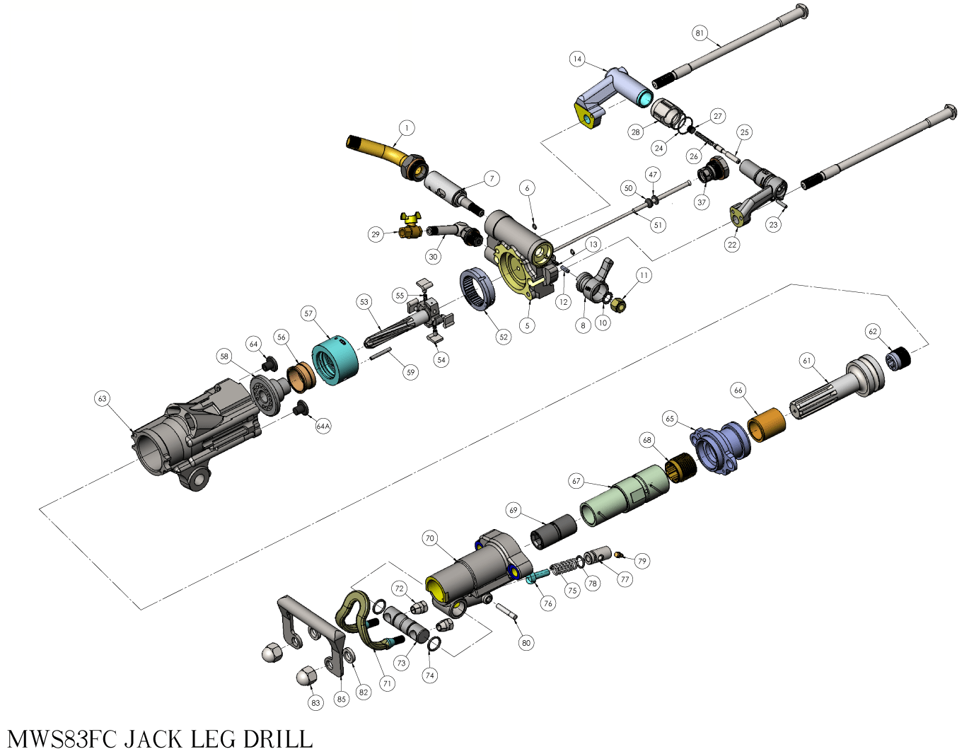 MWS83FC Exploded View